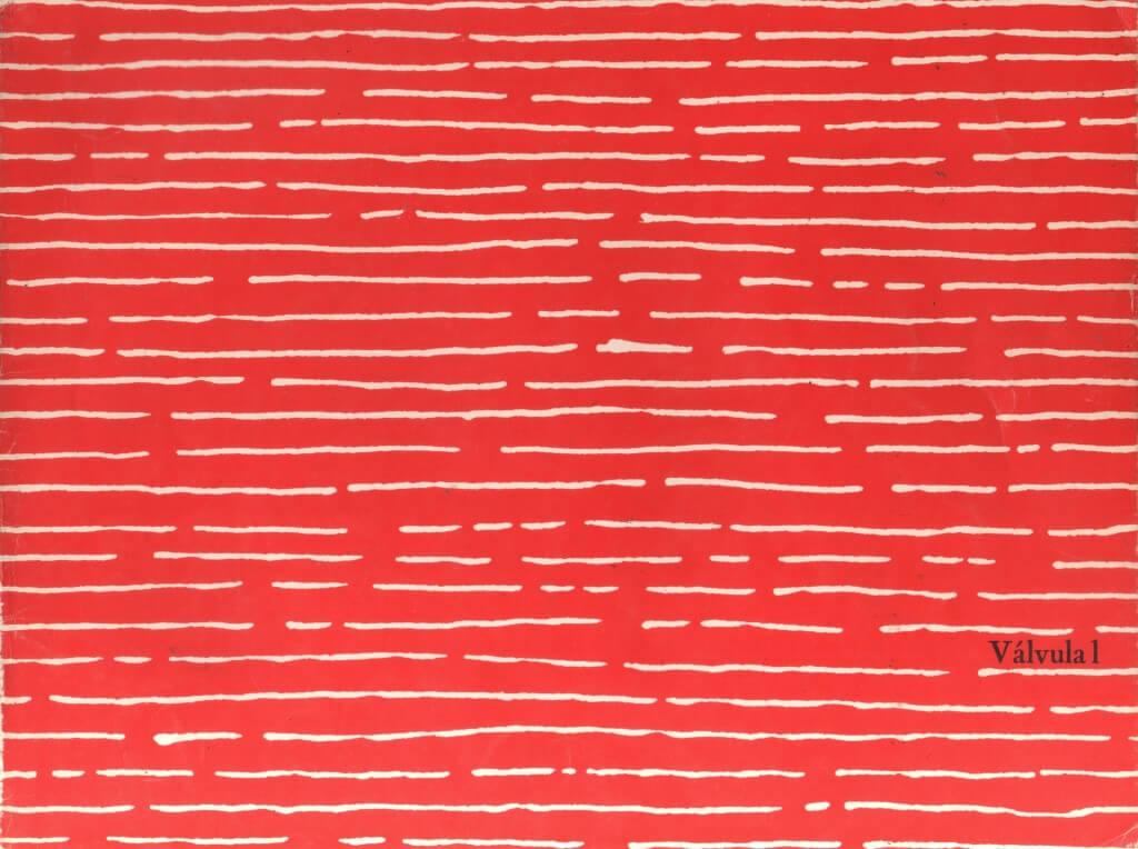 El #1 de Válvula (diciembre de 1984), diseñado por Ariel Toledano