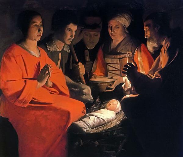 Georges de la Tour: Adoración de los Pastores (1644)