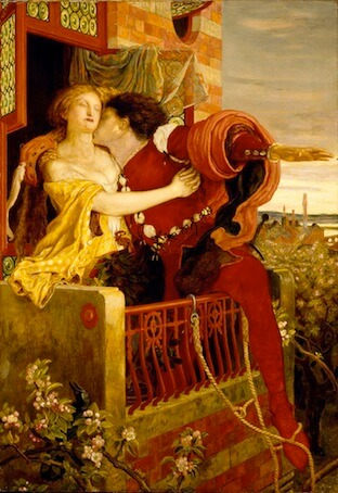 Escena del balcón - Ford Madox Brown, 1870
