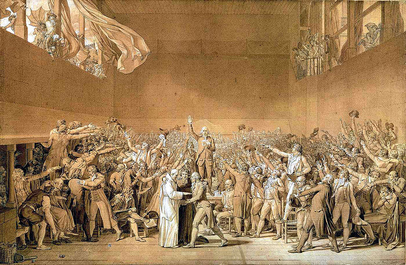 Jacques-Louis David: Juramento de la cancha de pelota (10 de junio de 1789)