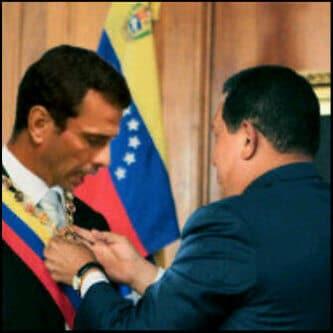 Capriles y Chávez en 1999