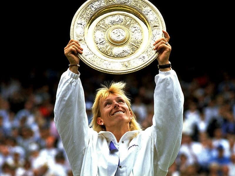 Martina Navratilova, grande del deporte blanco