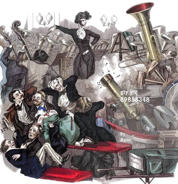 Caricatura de Berlioz en el Wiener Theaterzeitung (1846)