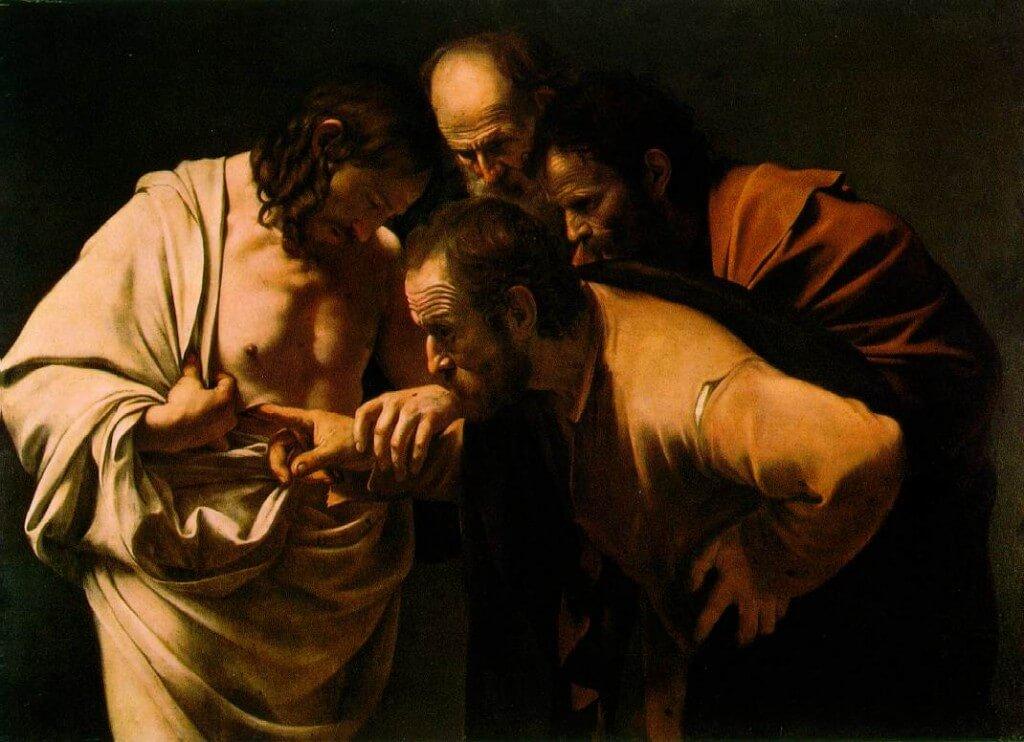 Michelangelo Merisi da Caravaggio: La incredulidad de Sto. Tomás