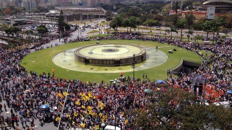 Plaza Venezuela de Caracas, 12 de febrero de 2014