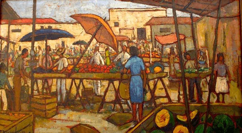 Pablo Benavides: Mercado de San Jacinto, 1963