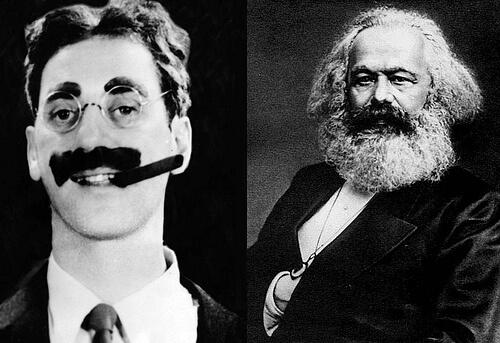 Los Marx: Groucho y Karl
