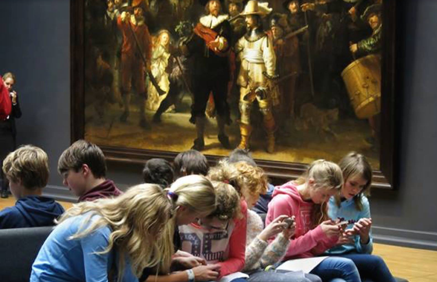 Texting en el Rijksmuseum