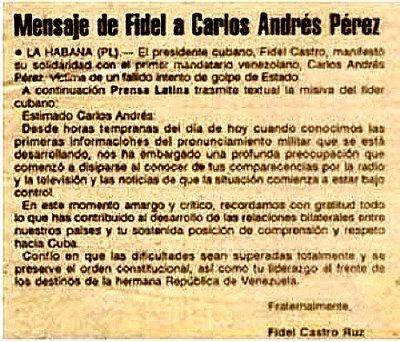 Fidel Castro imitó a Eduardo Fernández