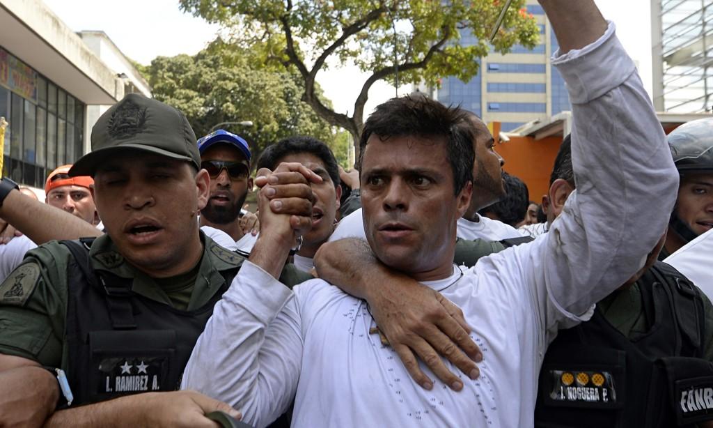 Leopoldo López el día de su detención