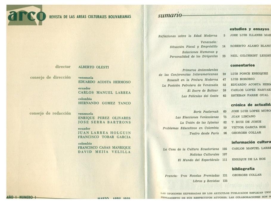 Publicación del área grancolombiana