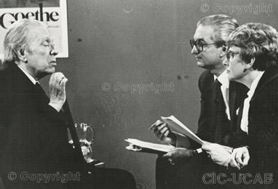 Carlos & Sofía con J. L. Borges