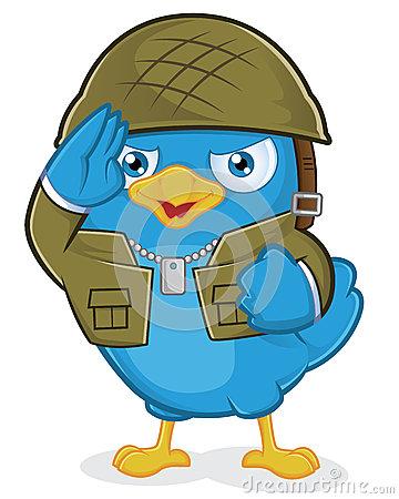 El tuit militar