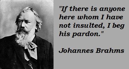 El humor de Johannes Brahms