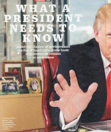 Artículo de portada de TIME - 25 de julio de 2016